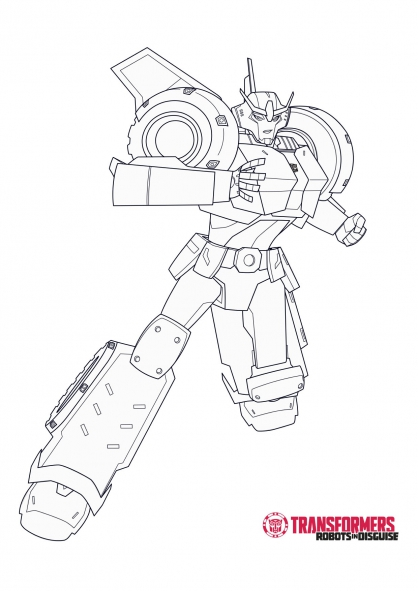 Transformers robots in disguise coloring coloring pages - Transformer coloriage ...