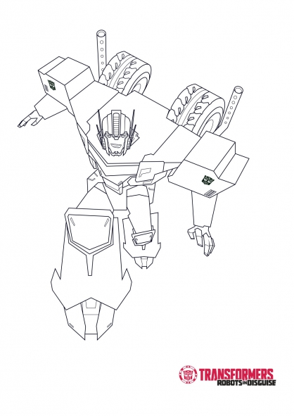 Transformers robots in disguise coloring pages sketch - Transformer coloriage ...