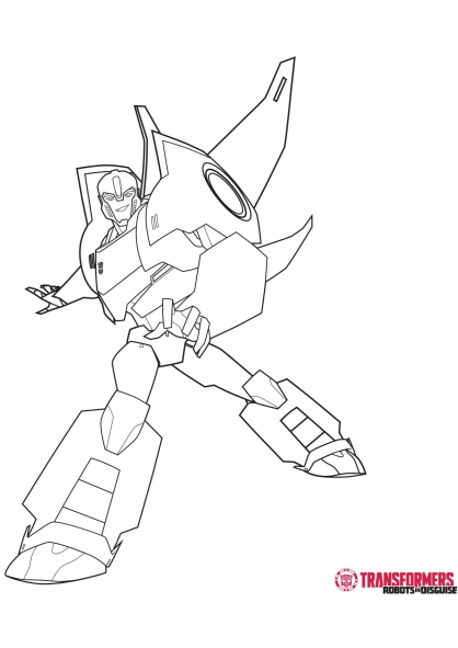Sideswipe transformers robots in disguise coloring page - Transformer coloriage ...