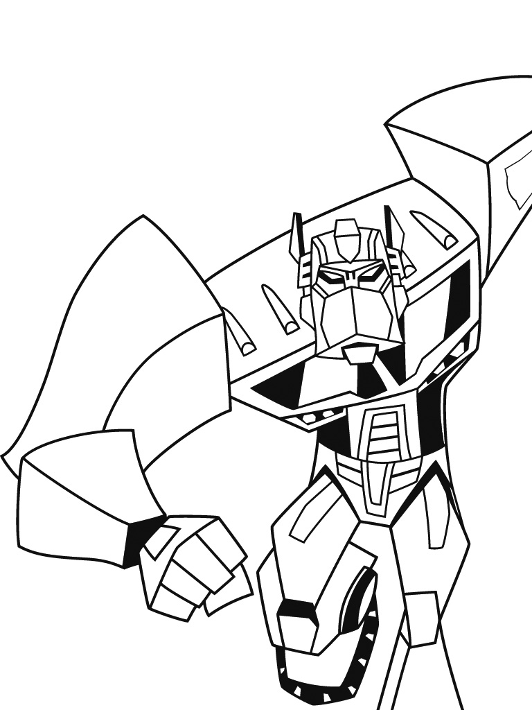 11 dessins de coloriage transformers starscream imprimer - Optimus prime dessin ...