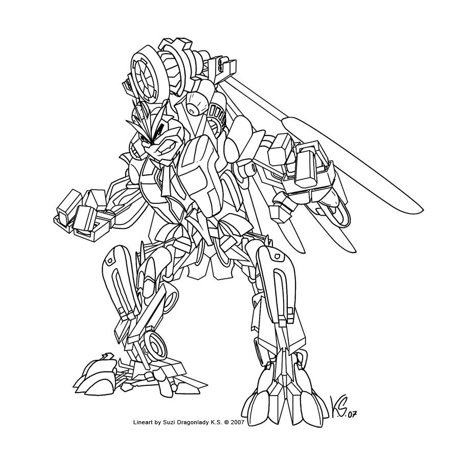 coloriage à dessiner de transformers à imprimer gratuit