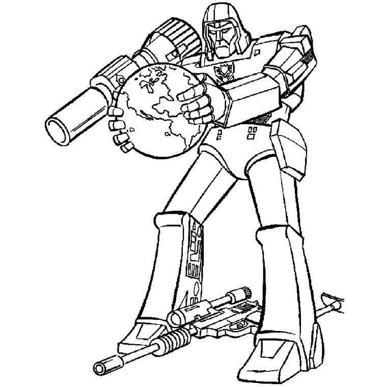dessin à colorier transformers 4 a imprimer