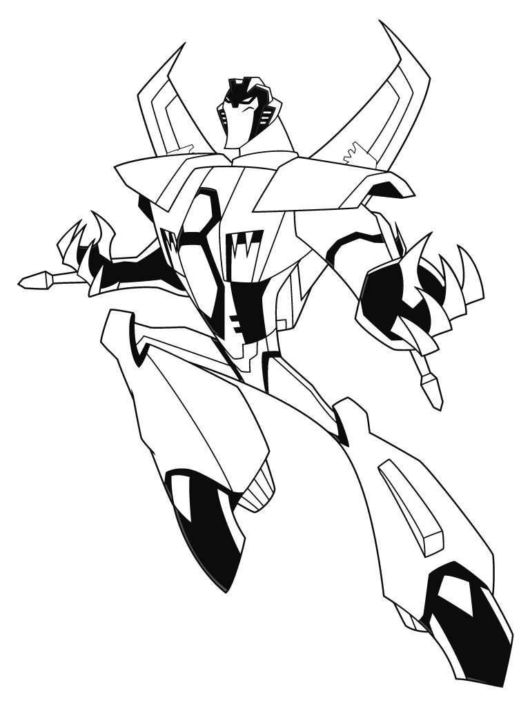transformers prime coloring pages starscream free here