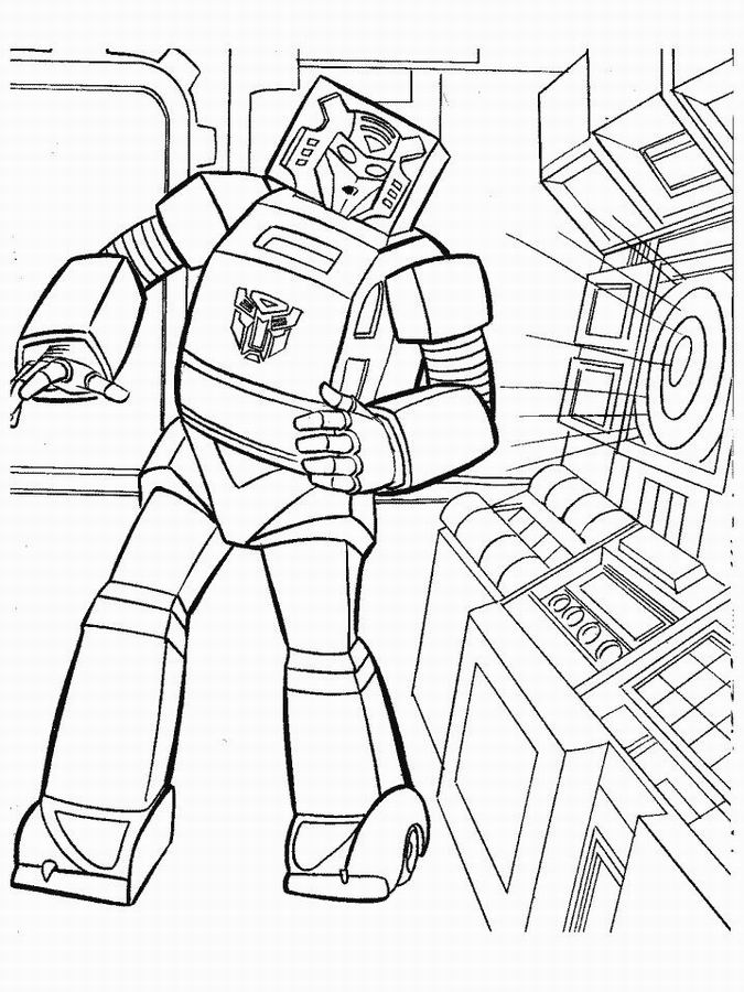 52 Dessins De Coloriage Transformers à Imprimer