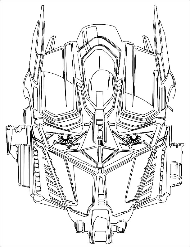 Coloriage transformers optimus prime - Dessin anime transformers ...