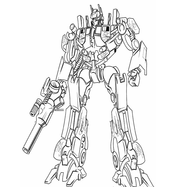 Charming Images Facile A Dessiner #5: Coloriage-transformers-19192.jpg