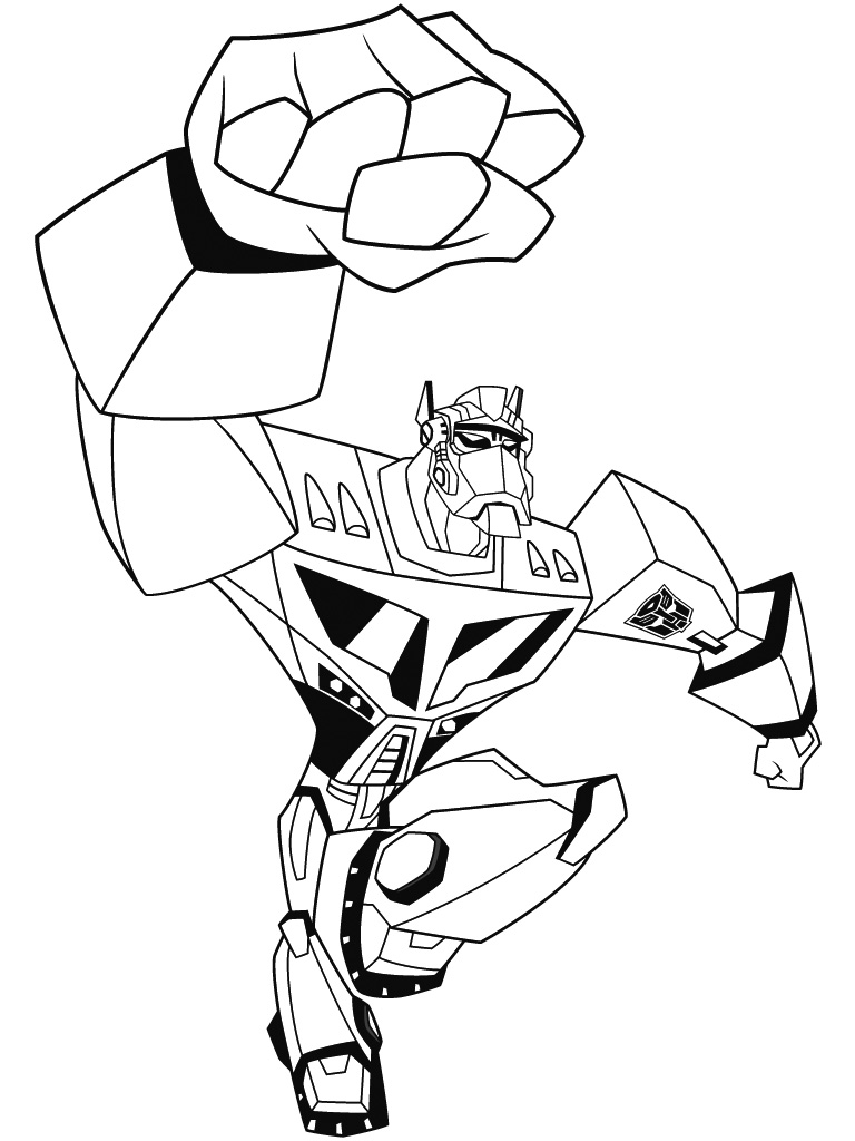 dessin à imprimer transformers
