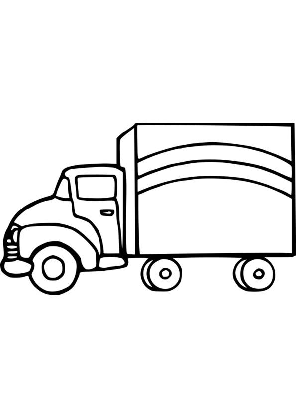 20 dessins de coloriage transport camion imprimer - Dessin de camion semi remorque ...