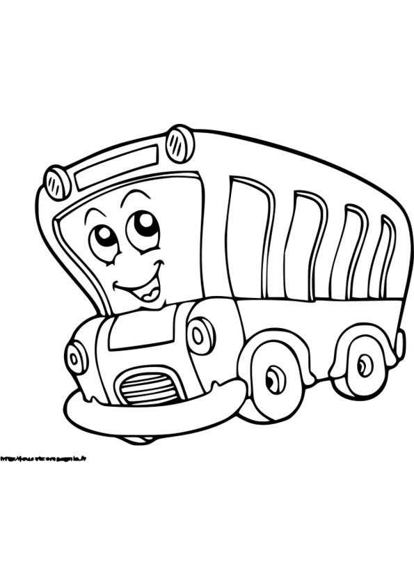 19 dessins de coloriage transport scolaire imprimer - Coloriage car scolaire ...