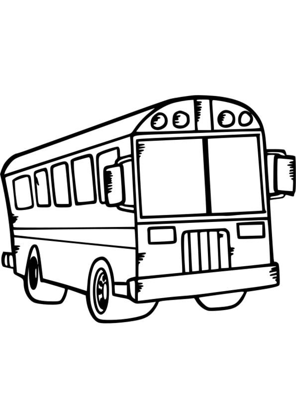 19 dessins de coloriage transport scolaire imprimer - Autobus scolaire dessin ...