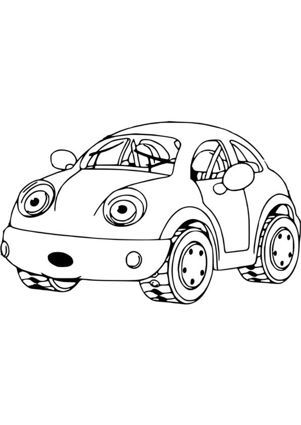 Coloriage voiture facile - Dessin a colorier de voiture ...