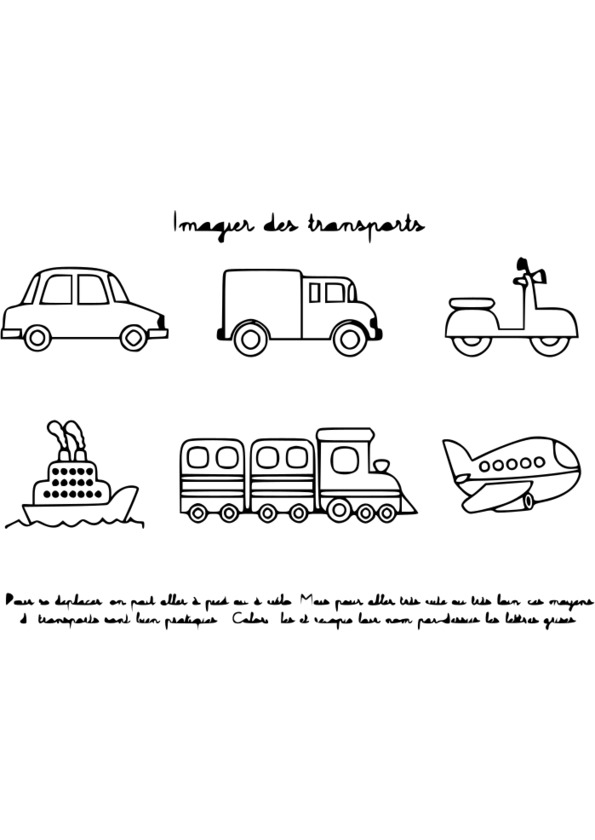 dessin camion transport de voiture
