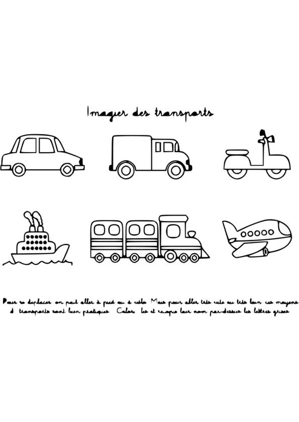 dessin camion transport de voiture