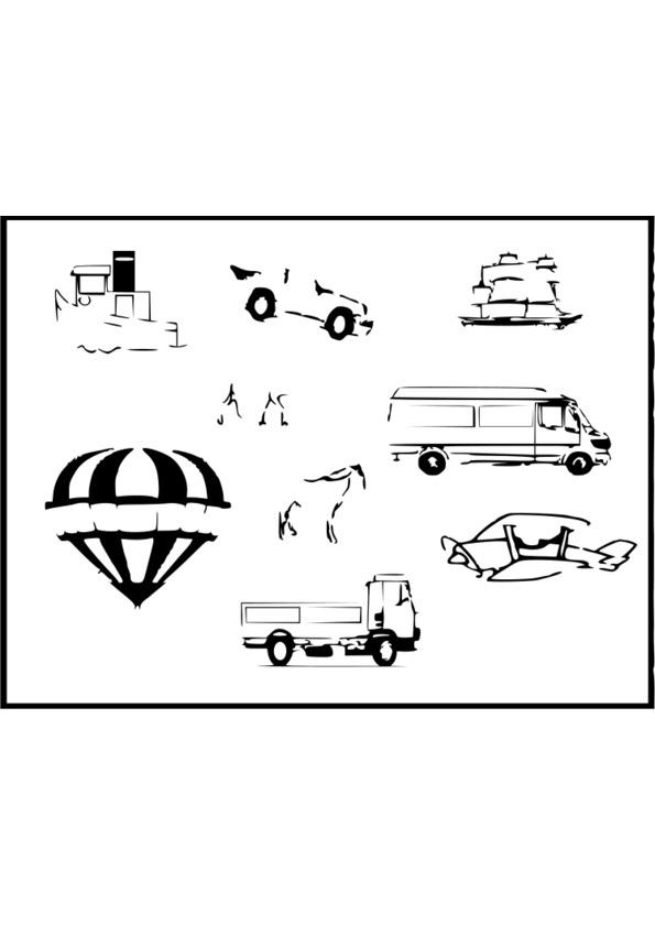 coloriage moyens de transport imprimer