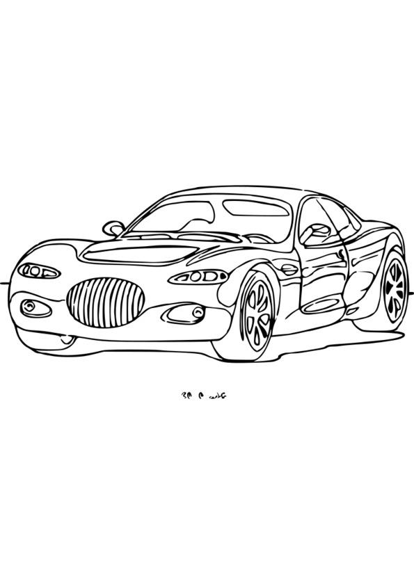 dessin a colorier transport