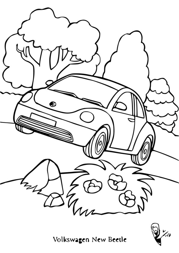coloriage voiture volvo