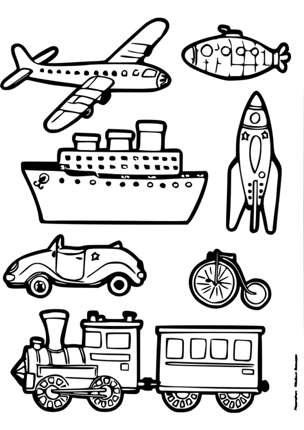 Coloriage des moyens de transport a imprimer gratuit 30000 collections de pages colorier - Coloriage transport ...