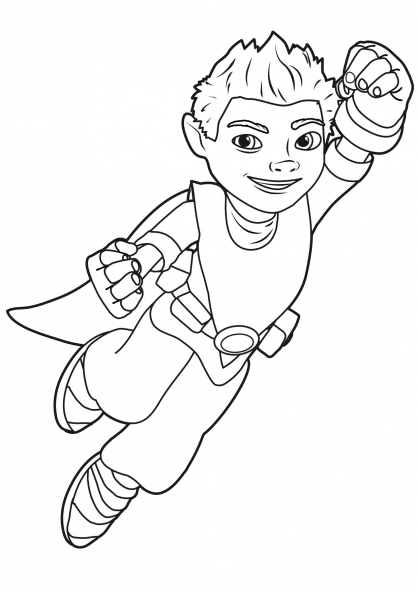 coloriage a imprimer tree fu tom