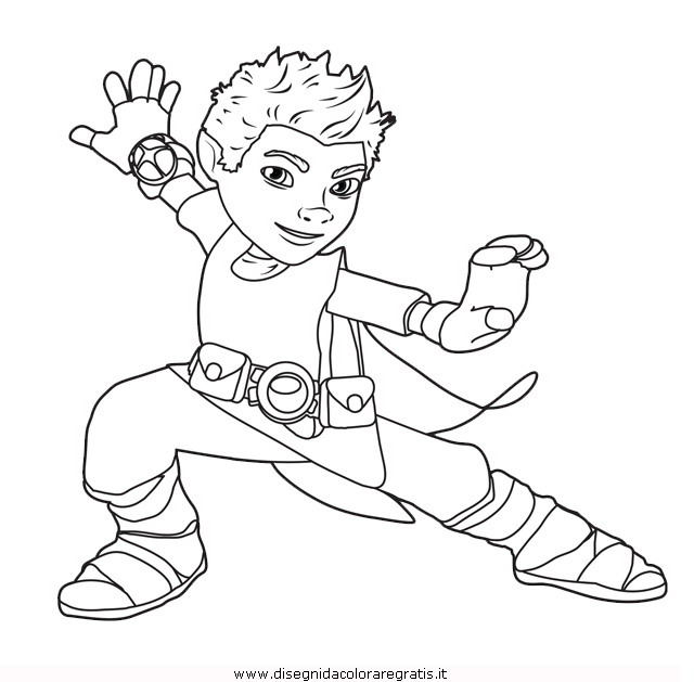 coloriage à dessiner de tree fu tom