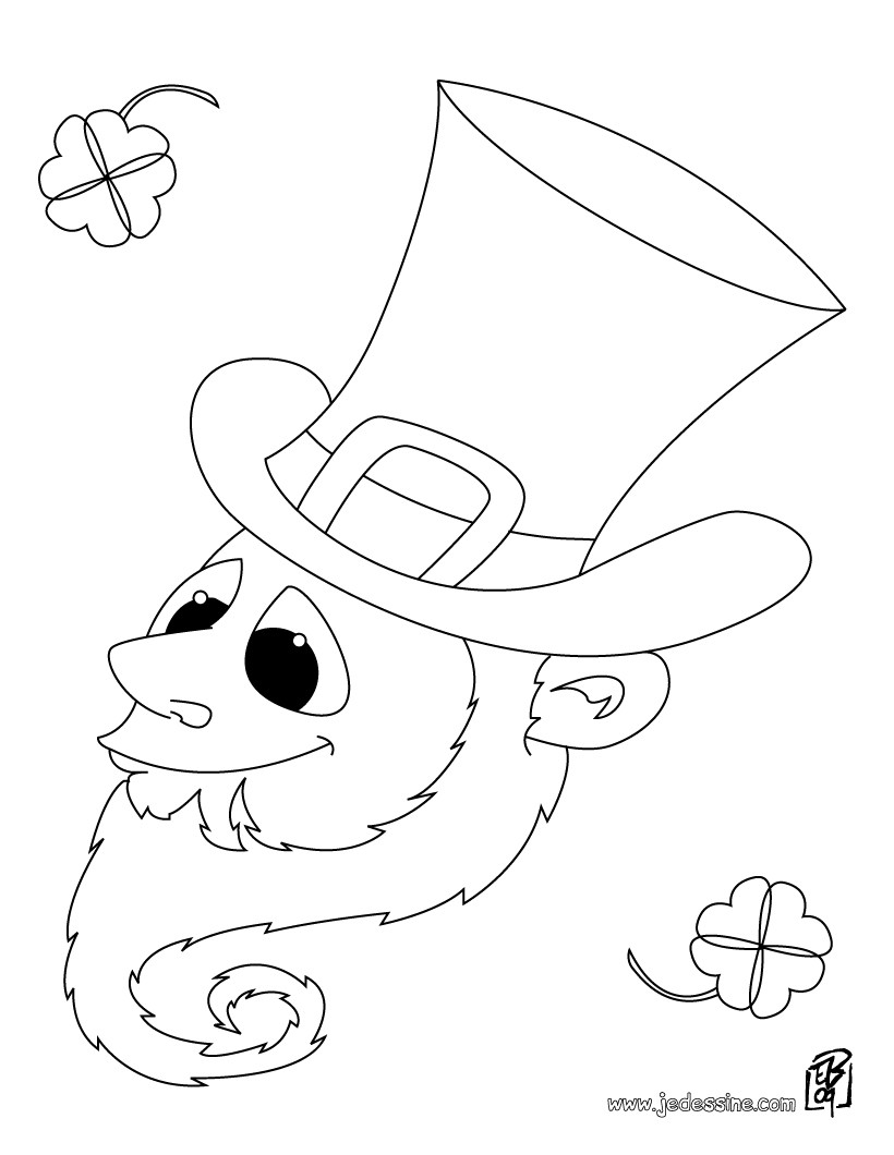 90 dessins de coloriage trefle st patrick  u00e0 imprimer