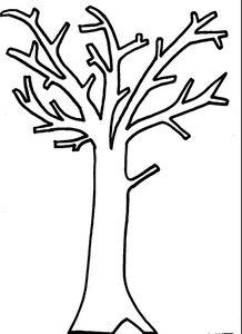 20 dessins de coloriage tronc d 39 arbre imprimer imprimer - Feuille d arbre a imprimer ...