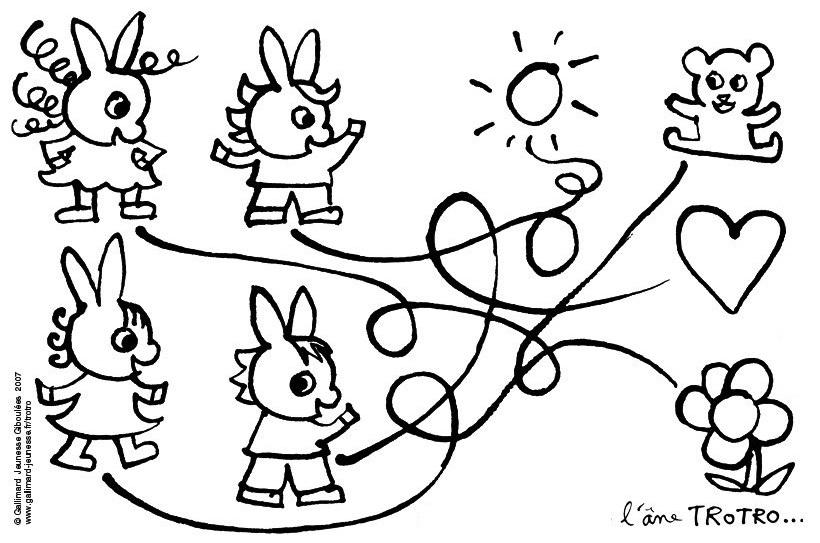 coloriage à dessiner trotro et lili