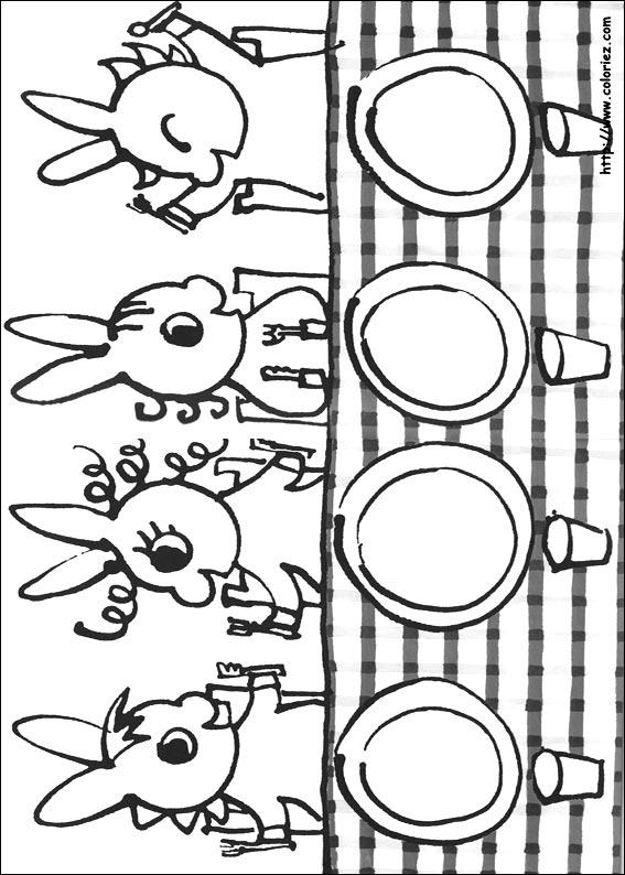 dessin à colorier trotro et nana