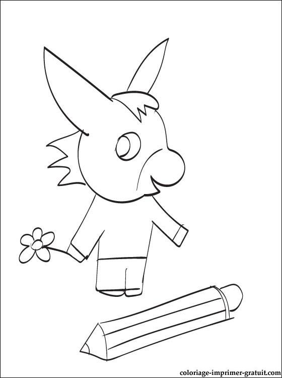 trotro en dessin à colorier