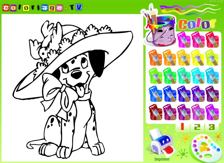 dessin colorier tv fruits