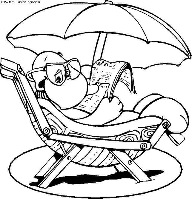 dessin à colorier vacances a imprimer gratuit