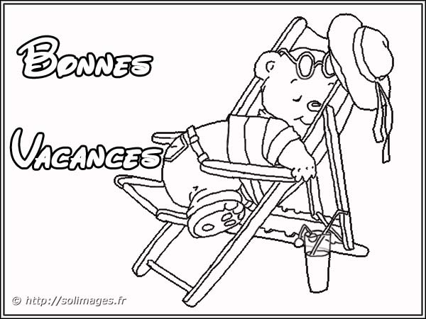 dessin � colorier vacances magazine