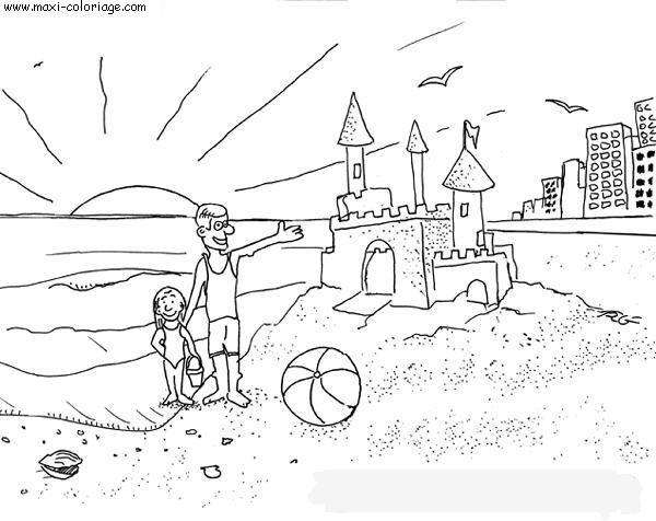 dessin à colorier vacances a imprimer