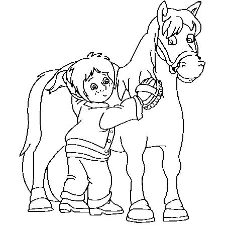 19 dessins de coloriage vache et cheval imprimer - Tchoupi et le cheval ...