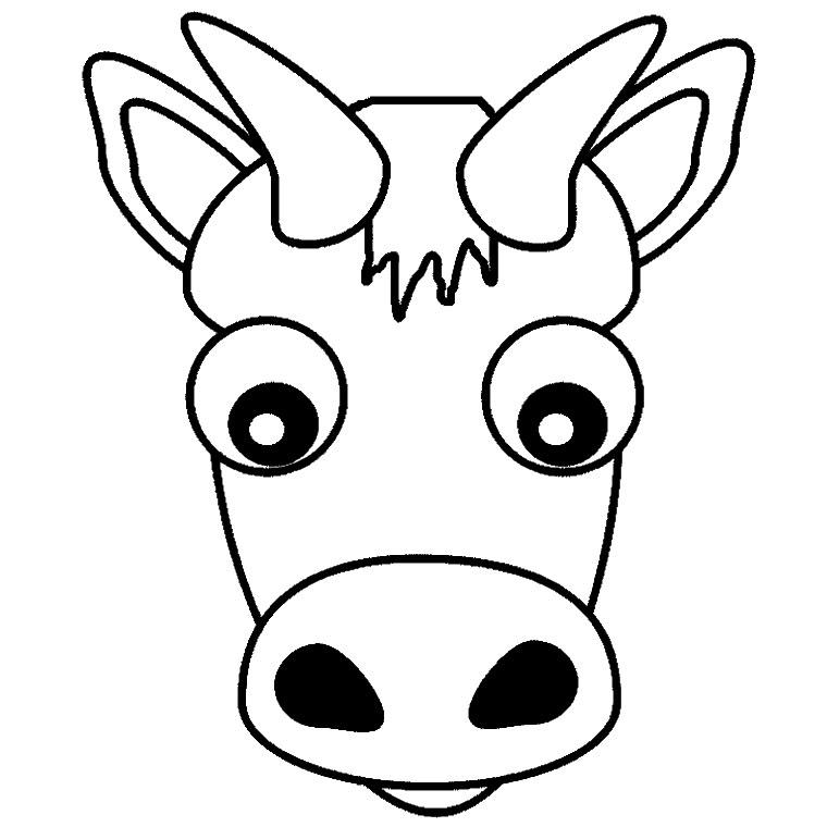 19 dessins de coloriage vache et cheval imprimer - Coloriage marron ...