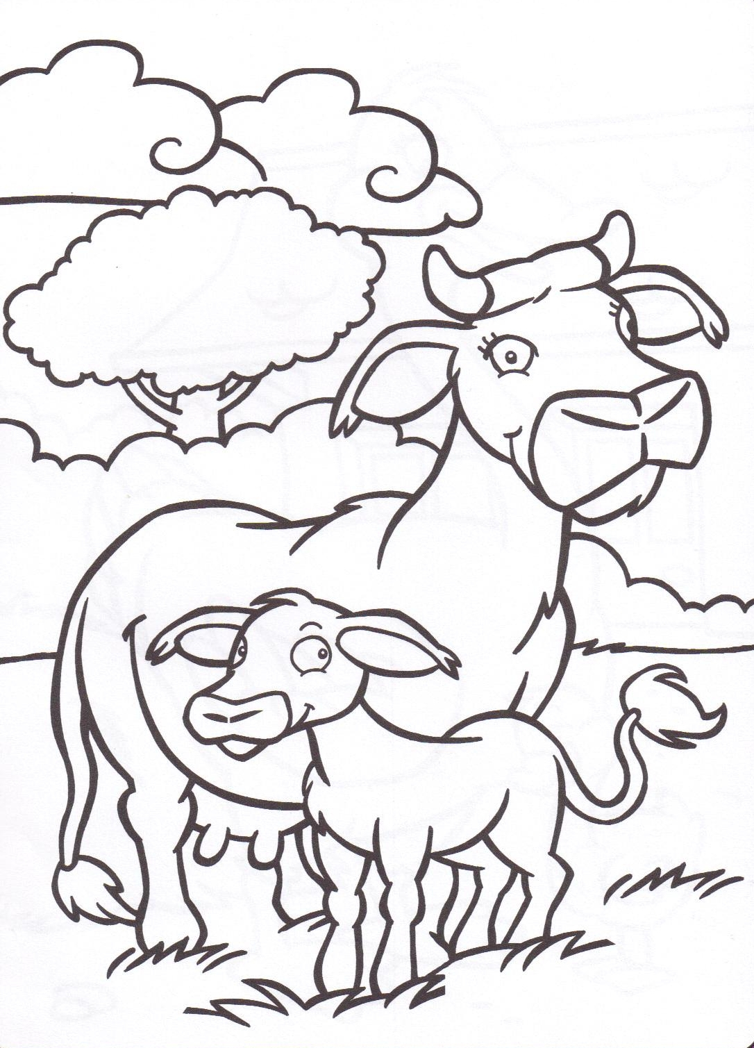 Génial Coloriage De Vache Et Veau A Imprimer Imprimer Et Obtenir