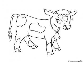 20 dessins de coloriage vache et veau imprimer - Dessin vache facile ...