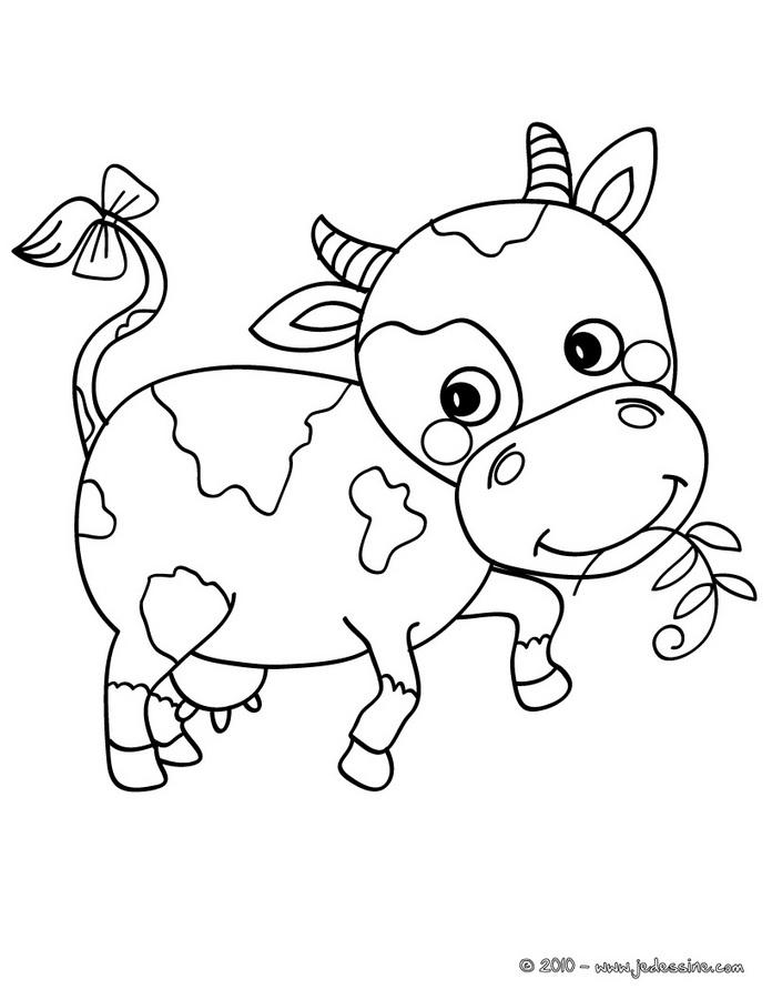 20 dessins de coloriage vache rigolote imprimer - Dessin vache facile ...