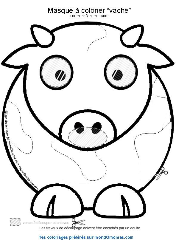 coloriage vache à imprimer