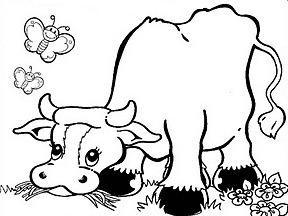 Coloriage ã Dessiner De Vache Qui Rit
