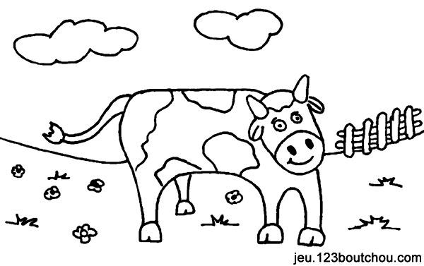 Dessin de vache avec son veau - Dessin vache facile ...