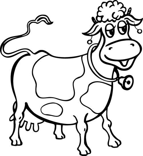 HD wallpapers coloriage de vache a imprimer