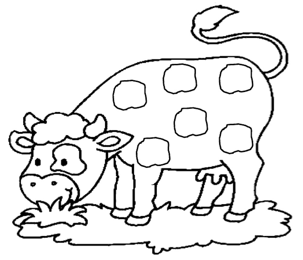 dessin à colorier vache à imprimer