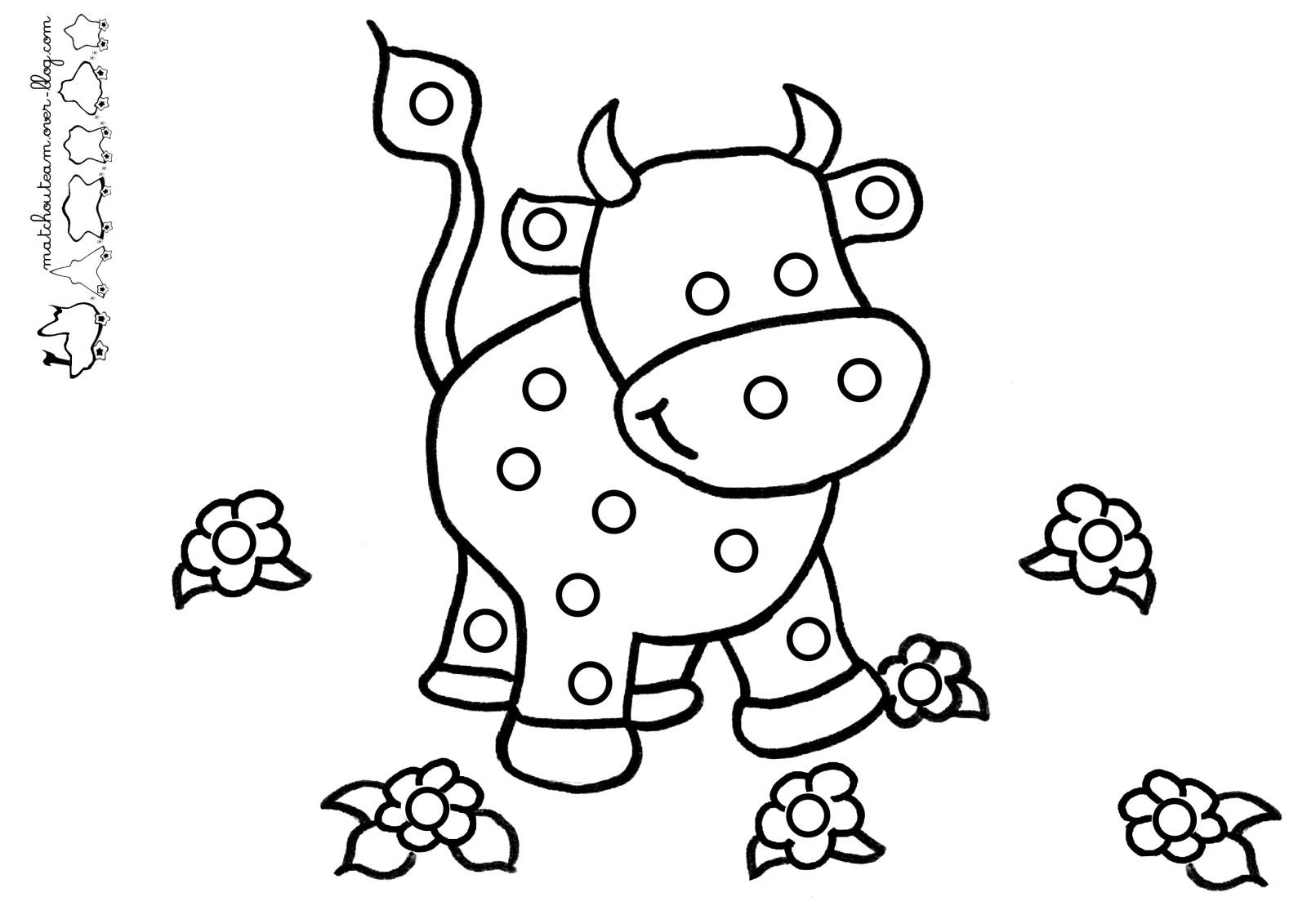 La Vache Mange Coloriage | 30000 ++ collections de pages à ...