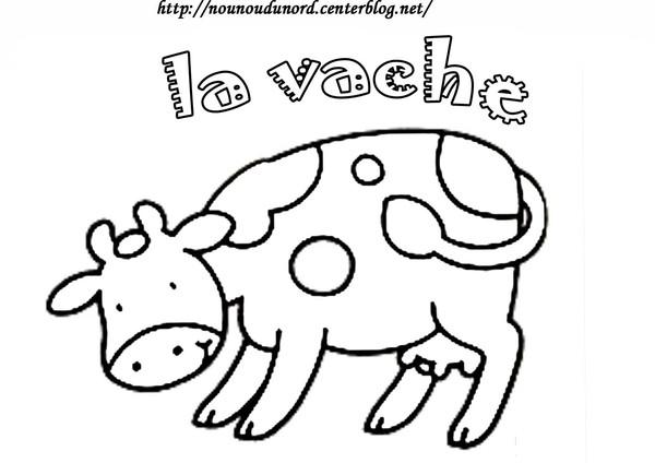 Dessin Vache Rigolote