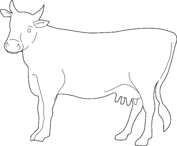 Dessin à Colorier Vache Qui Rit