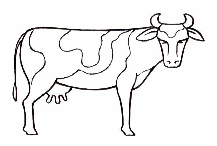 Dessin de vache rigolote - Vache a imprimer ...