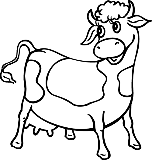 Dessin Simple D Une Vache