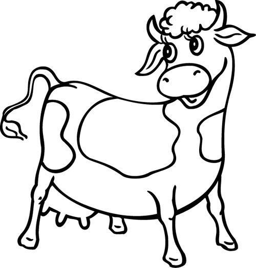 dessin à colorier vache maternelle