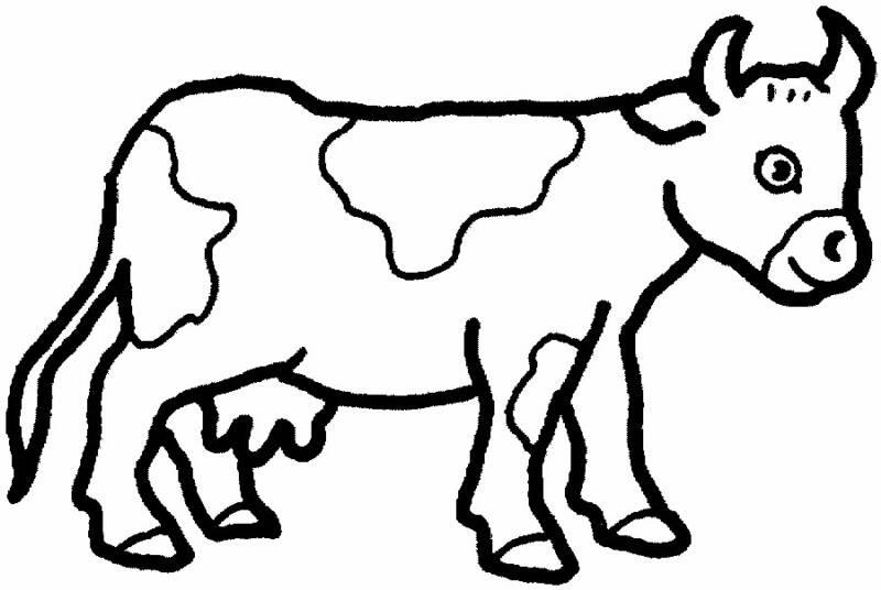 dessin à colorier vache kiri