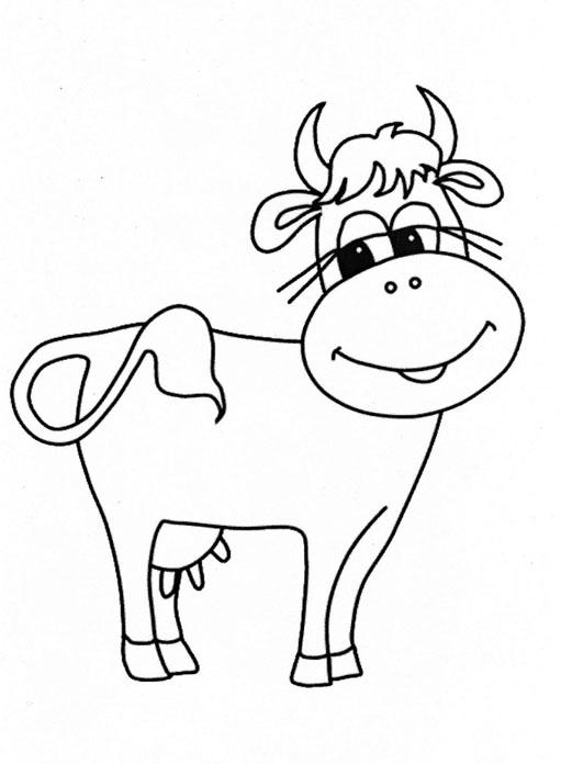Dessin colorier vache avec veau - Dessin vache facile ...